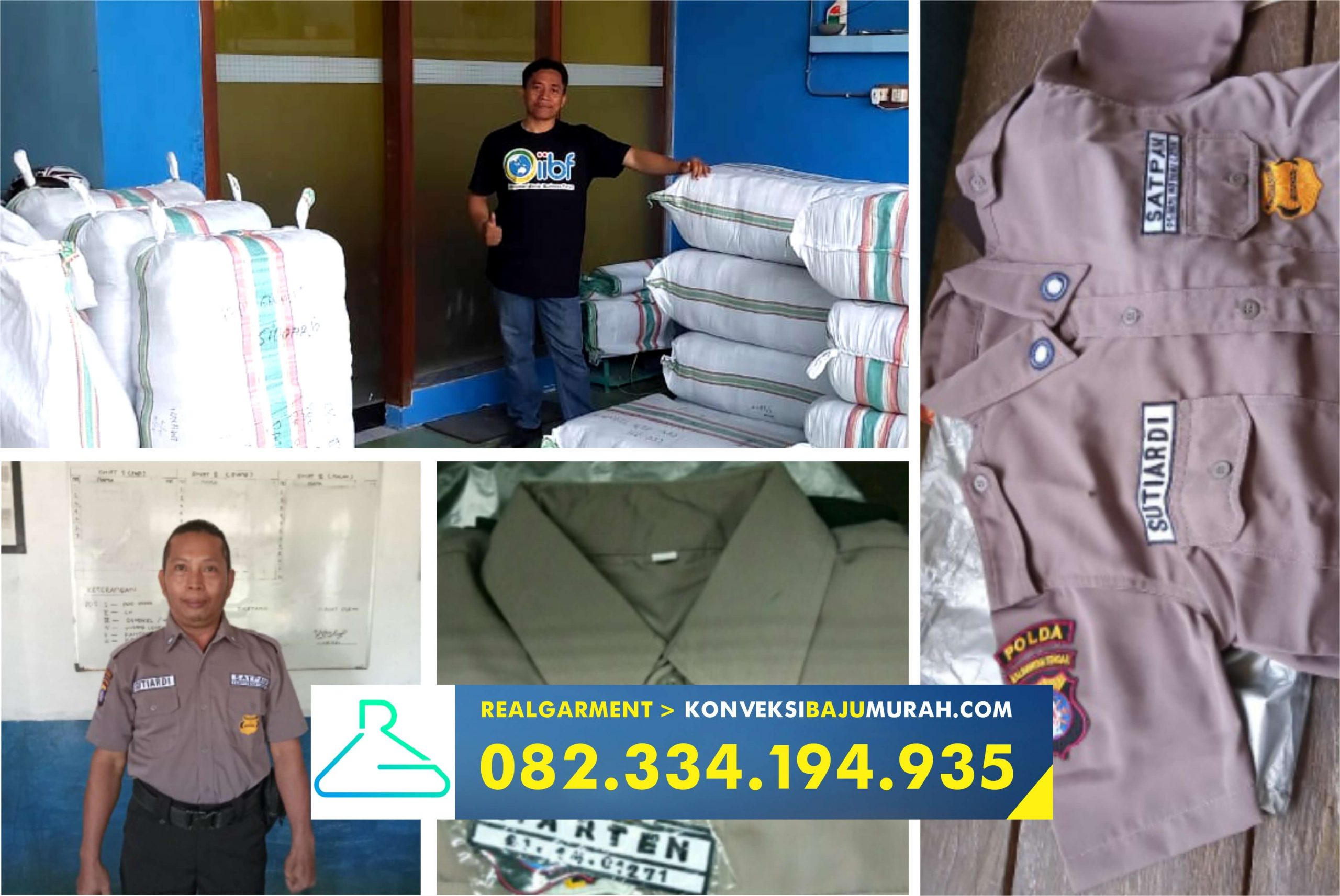 supplier seragam security, penjahit seragam security, pabrik seragam security, paket seragam security